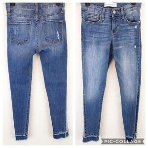 Flying Monkey | Blue Raw Hem Tiered Skinny Jeans